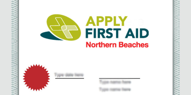 certificate-first-aid-northern-beaches-border